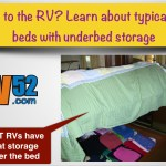 RV Bed with underbed storage