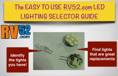 rv led light selection guide for finding replacement lights
