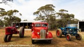 Three old farm machines ready for action. Kimba Museum