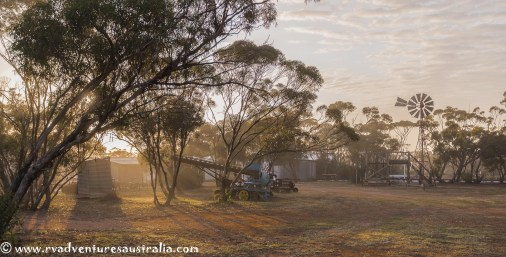 Early morning at the Kimba Museum.