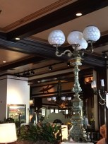 Old Ebbitt Grill pedestal gas lamp