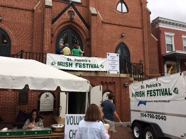 St. Patrick's church, festival sign