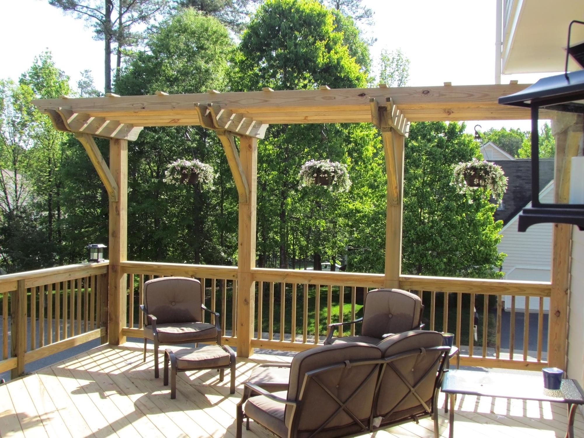 Deck With Pergola Midlothian Rva Remodeling Llc