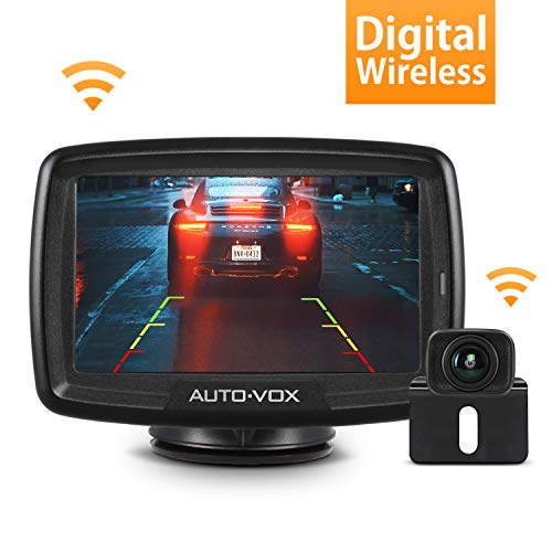 Ideal for Cars,SUVs,Pickups,Vans,Campers IP69 Waterproof Front//Rear View Camera with 4.3/″ TFT-LCD Monitor CAMONS HD Wireless Backup Camera System Kit with Digital Signal