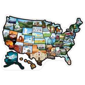 USA sticker map for RV Travel Gift
