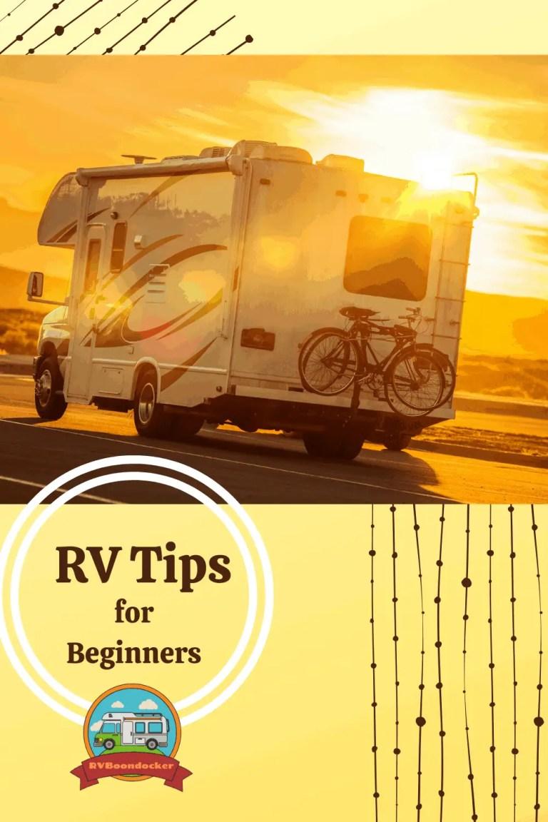 rv tips for beginners