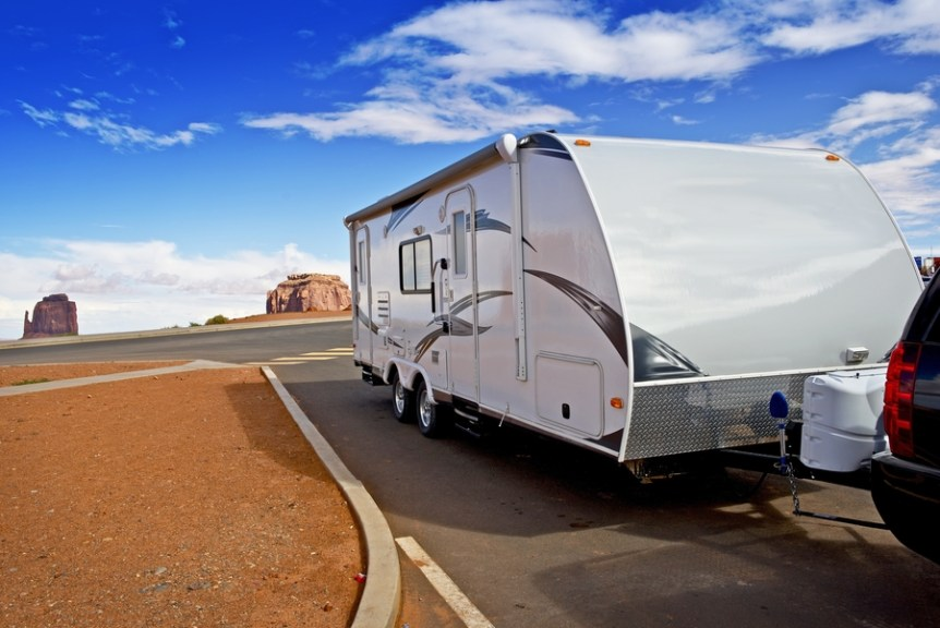 towing travel trailer