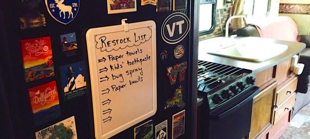 RV Restock List