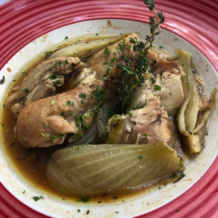 Chicken roasted with fennel and herbs - La Vallauris in Palm Springs