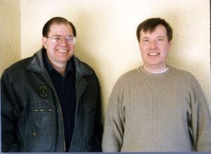RVIS, Inc.'s first remote viewing class: Paul with Ed Bogges in January 1997