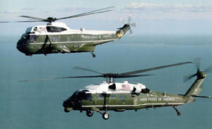 Marine Helicopter Squadron One is responsible for the green and white helicopters that ferry the US president around
