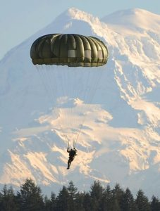 Floating to the ground under a parachute can be exhilarating