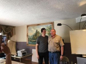 Paul H. Smith with son Christopher, after Christopher's talk on associative remote viewing