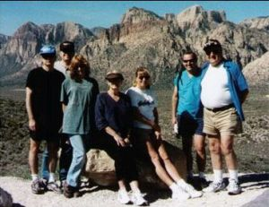 Gabi Pettingell (center right, sitting) with RVIS, Inc. remote viewing students in 2001