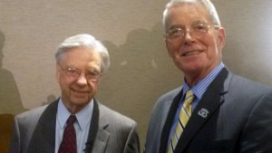 Bill Ray with Hal Puthoff in 2015 at the Remote Viewing Conference in New Orleans