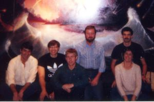 Ingo Swann with his military students, 1984