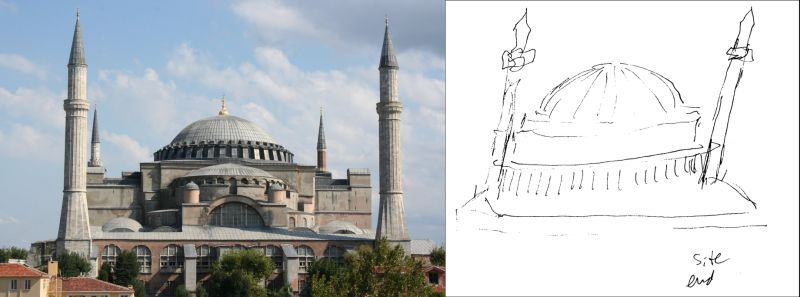 "Example of a successful remote viewing of the Hagia Sophia in Istanbul, Turkey, by a ""blind"" remote viewer in Maryland"