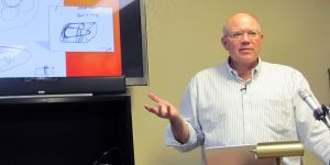 Paul H. Smith lecturing to class