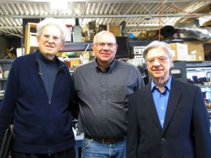 Targ and Puthoff with reviewer Paul H. Smith in Puthoff's lab in 2014
