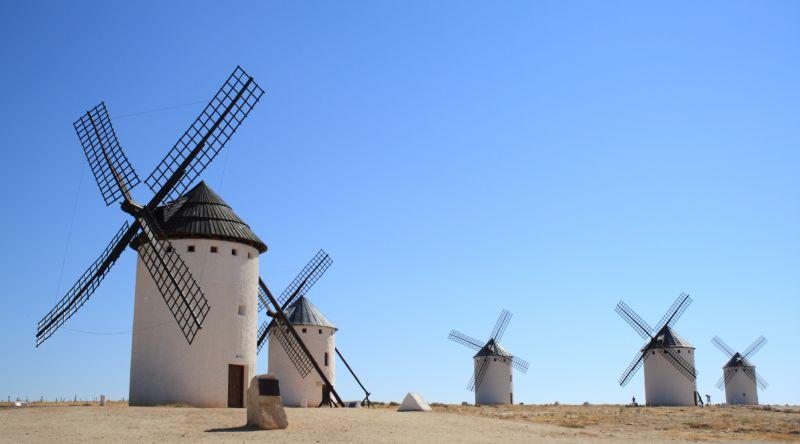 Target 242 is the windmills in Campo de Criptana, la Mancha, Spaing