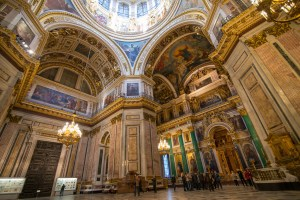 Interior view of St. Isaac's Cathedral