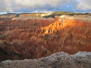"The layers of multi-spectral rock and hoodoo rock spires of Cedar Breaks, site for our Basic Controlled Remote Viewing Course ""Aesthetic Impact"" field trip, are not just awe-inspiring. They also radiate a profoundly spiritual quality."