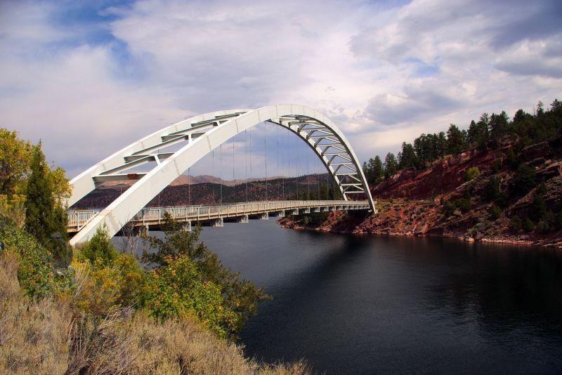 Target 201027349 is Cart Creek Bridge, Flaming Gorge NRA