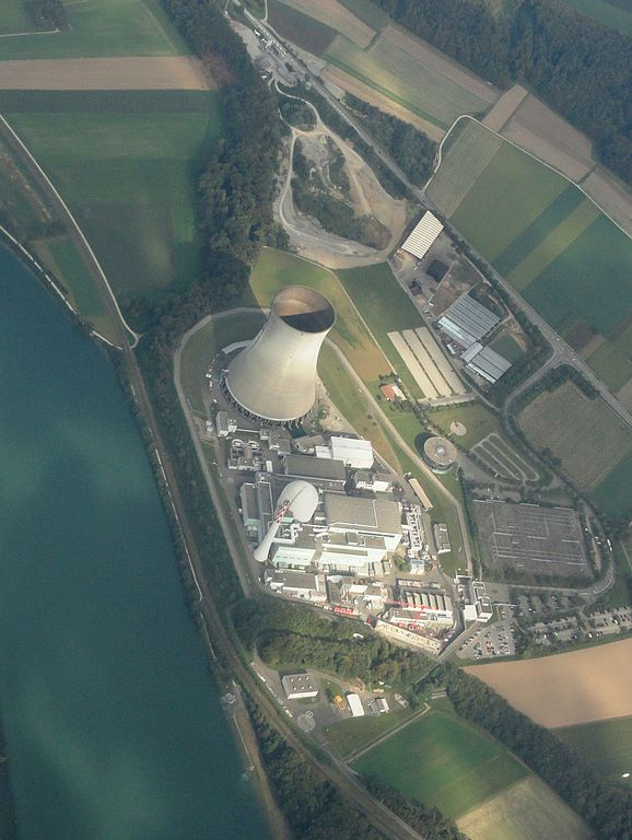 Aerial view of target 201208520 is the Leibstadt Nuclear Power Plant in Leibstadt, Switzerland