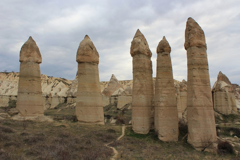 "Closer view of remote viewing target 210216768 ""fairy chimneys"" in Cappodocia Turkey"