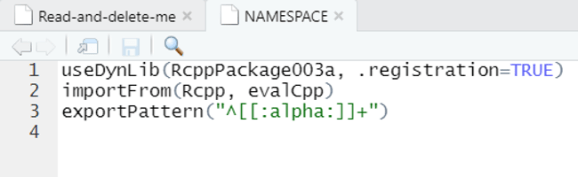 Updated NAMESPACE file