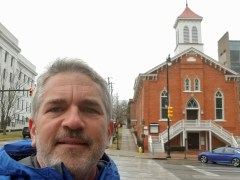 Brad Saum at Dexter Ave Baptist Church in Montgomery, Alabama.