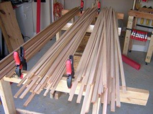 cedar wood strips