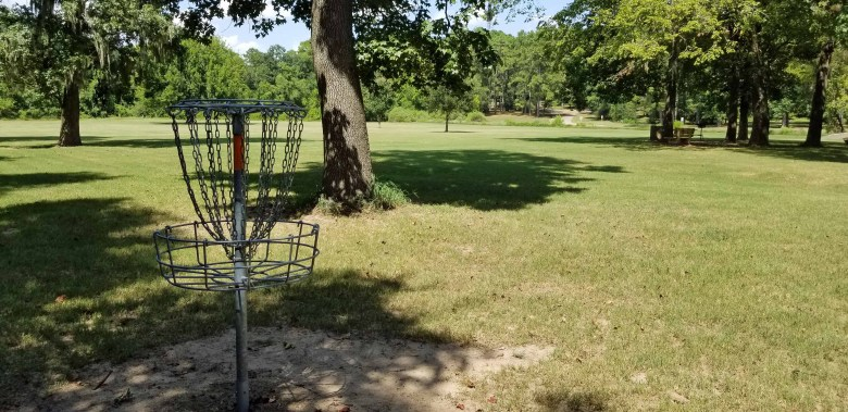 Disc golf is just one of many activities available in this county park.