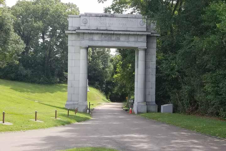 Vicksburg National Park entrance