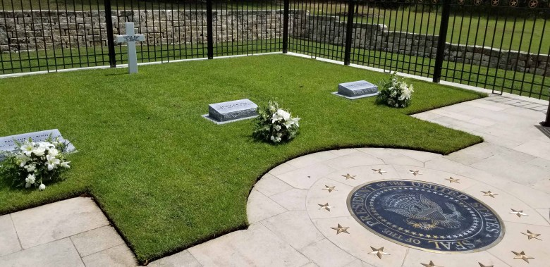 final resting place of President and Mrs. George H.W. Bush