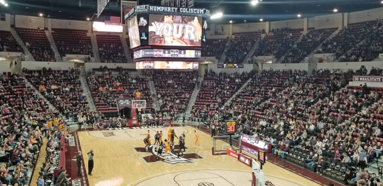 Mississippi State versus Tennessee in the Humphrey Coliseum in Starkville, Mississippi.