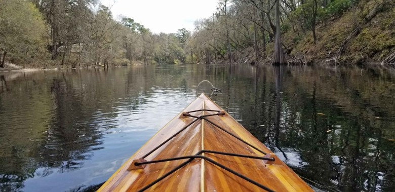 Kayaking the Suwannee River.