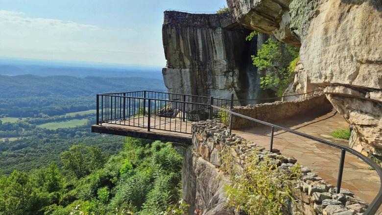 Observation deck at See Rock City