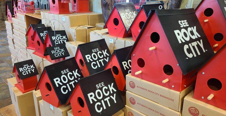 Iconic See Rock City birdhouses