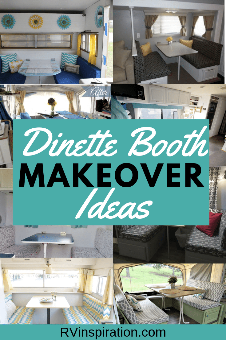 Instead of removing your RV dining booth, why not give it a makeover? #RVmakeover #RVrenovation #RVremodel #RV