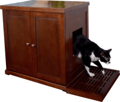 The Refined Feline RLB-MA Wood Cat Litter Box