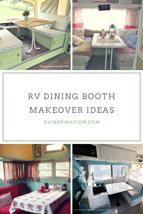 Dinette Booth Makeover Ideas Rv Inspiration