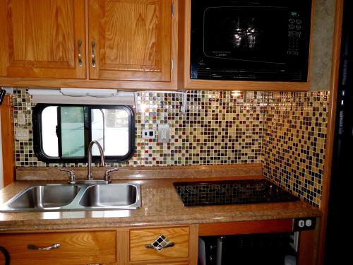 SmartTiles in RV kitchen