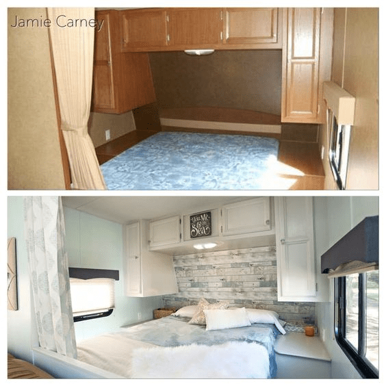 Beach RV before and after