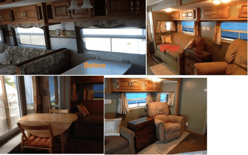 Table and chairs to replace dining booth in RV   RVs, campers, travel trailers, and motorhomes without the dining booth