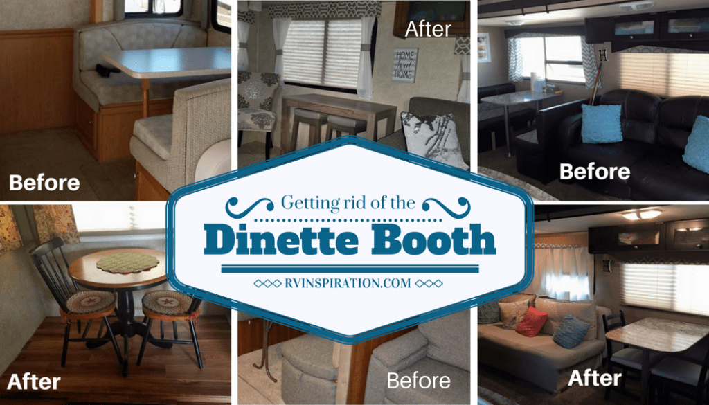 Rv Owners Who Replaced Their Dining Booth Rv Inspiration