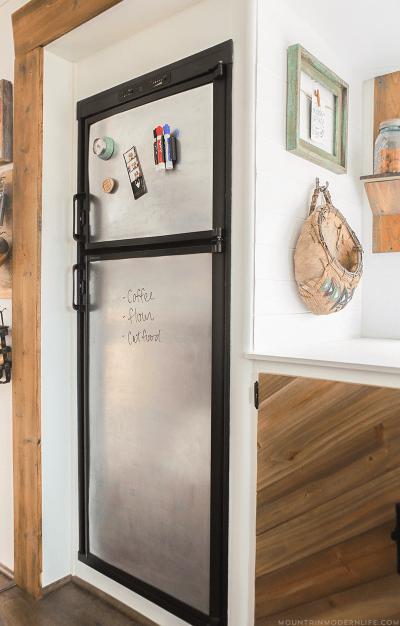 steel dry erase board fridge