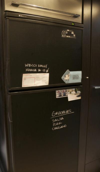 chalkboard contact paper fridge