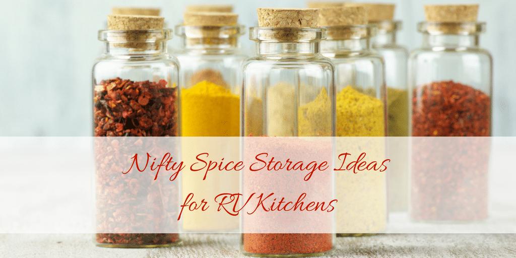 RV kitchen storage idea for organizing spices