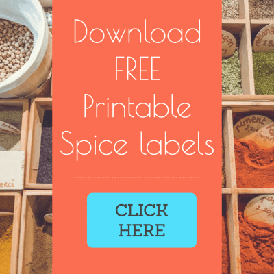 Over 100 Free printable spice labels for spice tins